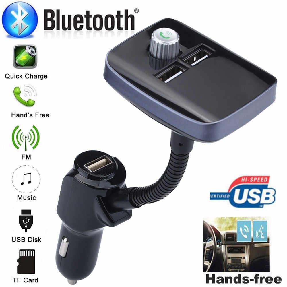 FM 送信機ワイヤレス Bluetooth カー Fm トランスミッター FM 変調器急速充電 3.0 充電器ハンズフリーカーキット MP3 したがって Playe # D3