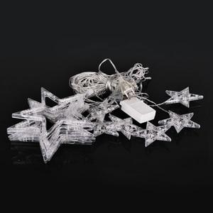 Image 4 - 2.5 เมตร LED Christmas Light AC220V EU โรแมนติก Fairy ผ้าม่าน LED String ไฟสำหรับวันหยุดงานแต่งงาน Garland ตกแต่งพรรค