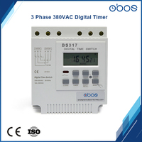 built in battery beautiful 3 phase 380V 50/60Hz programmable timer with 16 times on/off per day time settiing ragne 1min 168H