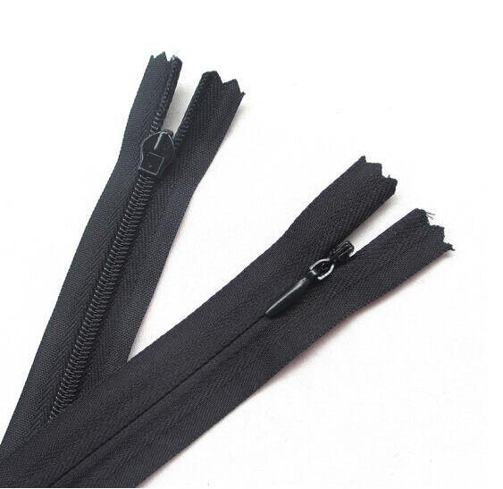 Invisible Nylon Coil Zipper,Clothing Zipper,DIY Sewing Tools for Craft 24 inch,Black 20 Pcs Leekayer