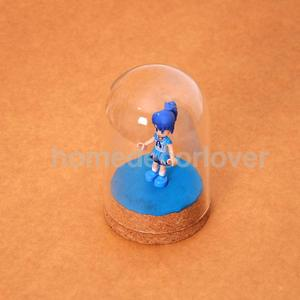 Image 3 - โมเดิร์น 10Pcs Handcraft แก้วโดมฝาครอบแห้งดอกไม้แจกันไม้ Cork ฐาน Landcrape Figurines ชุดจอแสดงผลงานศิลปะ