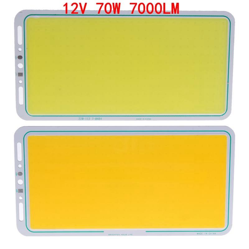 12 v 70 watt 7000LM LED Panel Licht LED Streifen Licht LED COB Licht Lampe Weiß/Warm Weiß Weichen hohe Helligkeit Arbeits Licht 220X120mm