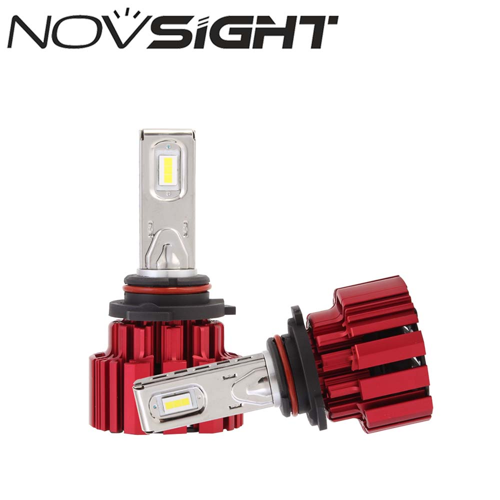 NOVSIGHT 9006/HB4 Auto Car LED Headlights Fog Light Bright Cool White Headlights Lamps Bulbs 6000K DRL 80~86W 13600lm/set 2pcs h3 fog light car daytime driving running bulbs replacement 80w 6000k bright led headlights bulb lamps auto parts