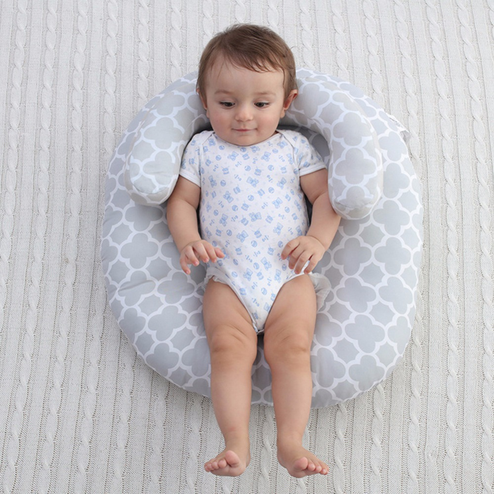 цена на 0-18M Baby Cotton Stereotypes Pillow Infant Kids Anti-rollover Positioning Pad Nursing Pillow Newborn Baby Travel Bed