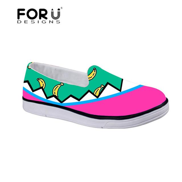 FORUDESIGNS Crianças Melancia Impressão Ao Ar Livre Escola Sapatas Do Esporte para Crianças De Fitness Sapatos Confortáveis Planas Zapatos Sapato Andando