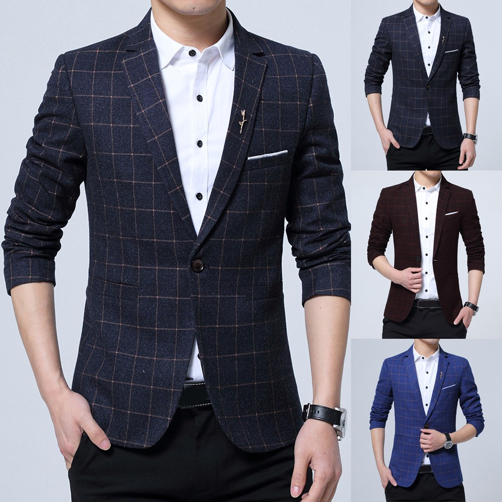 Men's Fashion New Style One Button Suit For Self-Cultivation Business Coat
