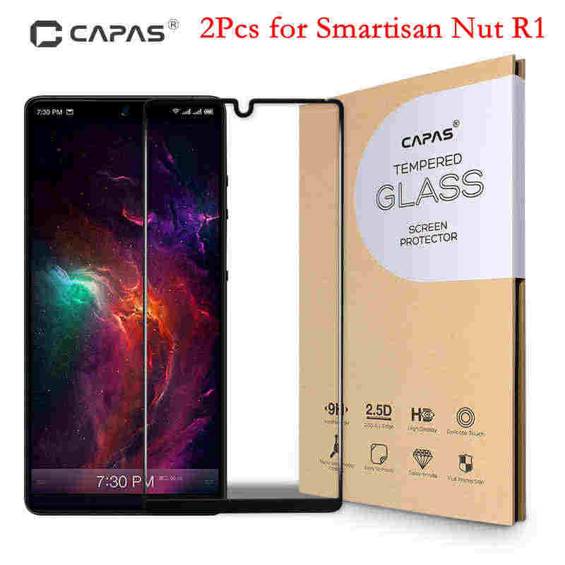 2Pcs For Smartisan Nut R1 Tempered Glass Screen Protector CAPAS For Nut R1 Full Coverage Protective Film LCD Guard 9H Shockproof