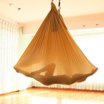 5*2.8 m Fitness Yoga Stretch Riemen Anti-Zwaartekracht Antenne Yoga Swing Sling Inversie Hangmat voor Platis Core sterkte Oefening