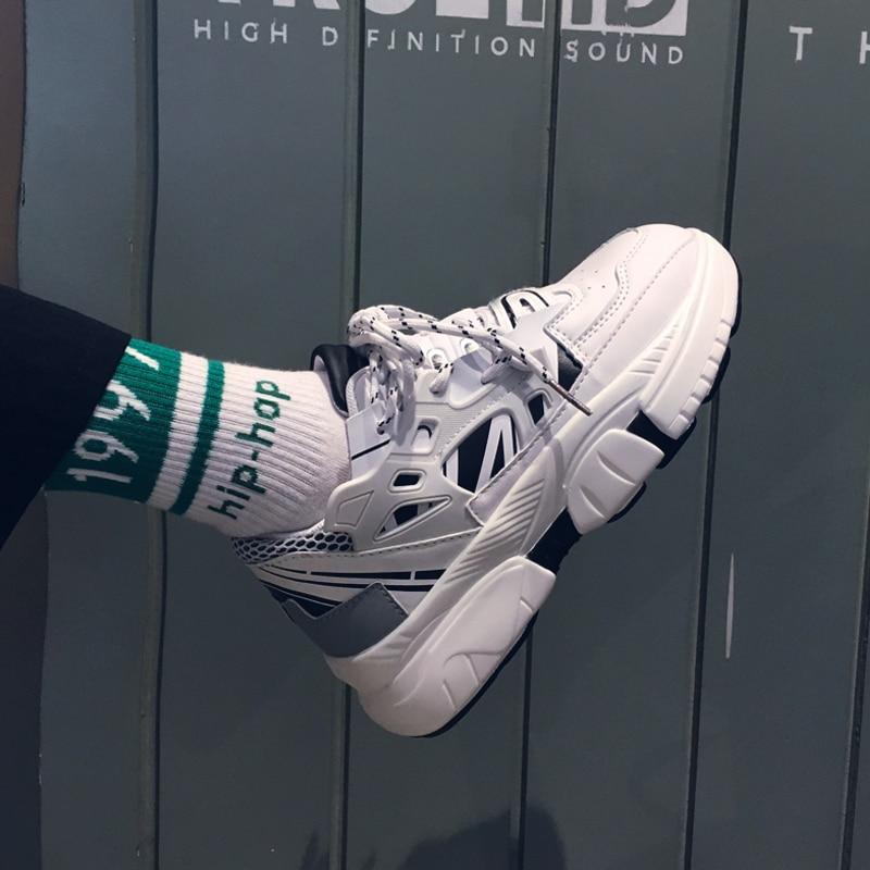 Chunky De Sneakers Casual Tenis blanc Zapatillas Ins Masculino Vintage Patchwork Confortable Hommes Mode Chaussures Mens Deporte Noir BxOEqtz1w