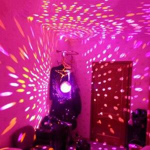 Image 4 - Thrisdar Dia25CM 30 センチメートルガラスディスコのミラーボールと 2 個 10 ワット RGB ビーム Pinspot ランプウェディングパーティー KTV ディスコステージライト