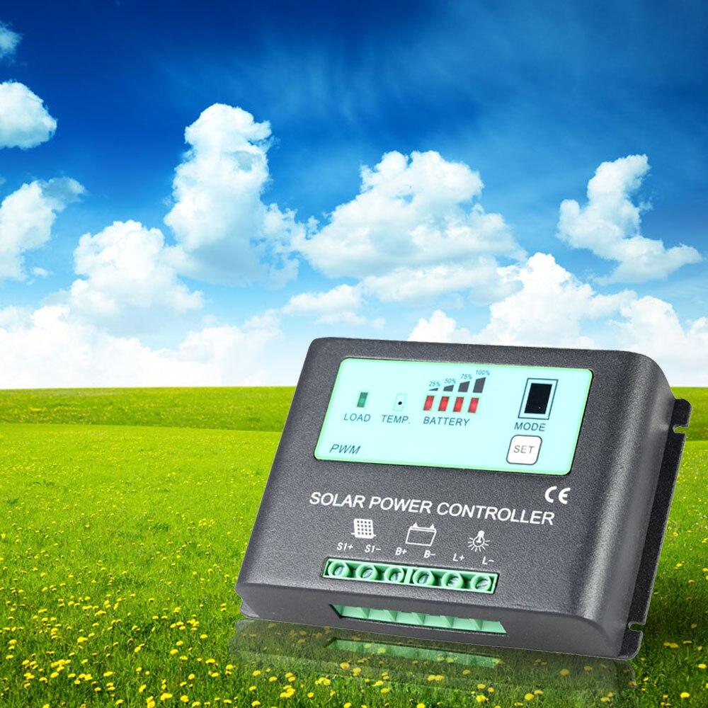 25A 12V/24V intelligent Solar Charge Controller Auto-ID PWM Regulator Time-Control Solar Power Panel Battery Lamp Light-Control 1pcs intelligent pwm 20a 12v 24v solar panel charge adapter regulator controller for solar power control