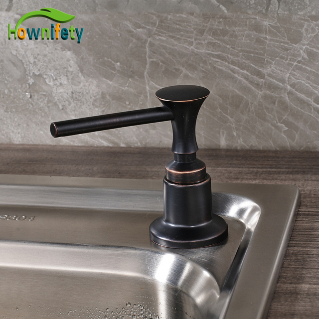 Oil Rubbed Bronze Kitchen Sink Soap Dispenser Liquid Deck Mounted