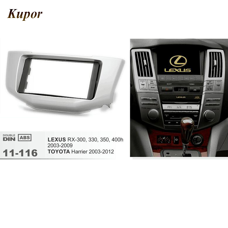 11-116 Car Radio Fascia Dash Install Fitting Trim Kit For LEXUS RX-300/330/350/400h 2003-2009/TOYOTA Harrier 173*98mm/200*100mm