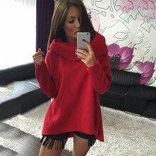 Women Autumn Winter Irregular Sweatshirts Long Sleeve Scarf Collar Hoodies Sweatshirts Female Casual Pullovers AQ862453