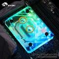 Bykski cpu 수냉 블록 라디에이터 사용 amd ryzen3000 am4 am3 x399 1950x tr4 x570 마더 보드/투명 아크릴 A-RGB