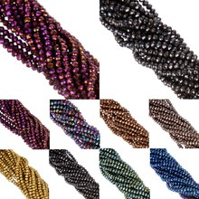 LNRRABC 5A+ 4MM 145 piece/lot Round Ball Faceted Glass Crystal Beads for DIY Jewelry Making Free Shipping Wholesale