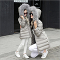 Family Clothing Christmas Kids Down Coat Girls Winter Clothes Children's Cotton Down Jacket Matching Mother Daughter Clothes