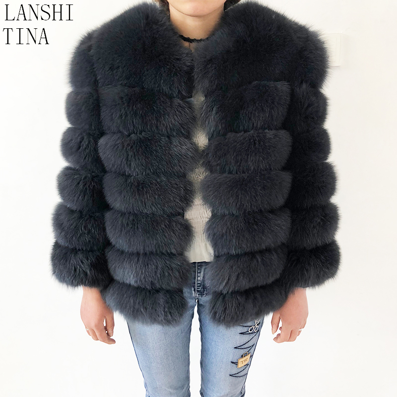 Natural Fox Fur Coat Women s Short Sleeveles Leather Jacket Winter beautiful 100 Real Fox Fur