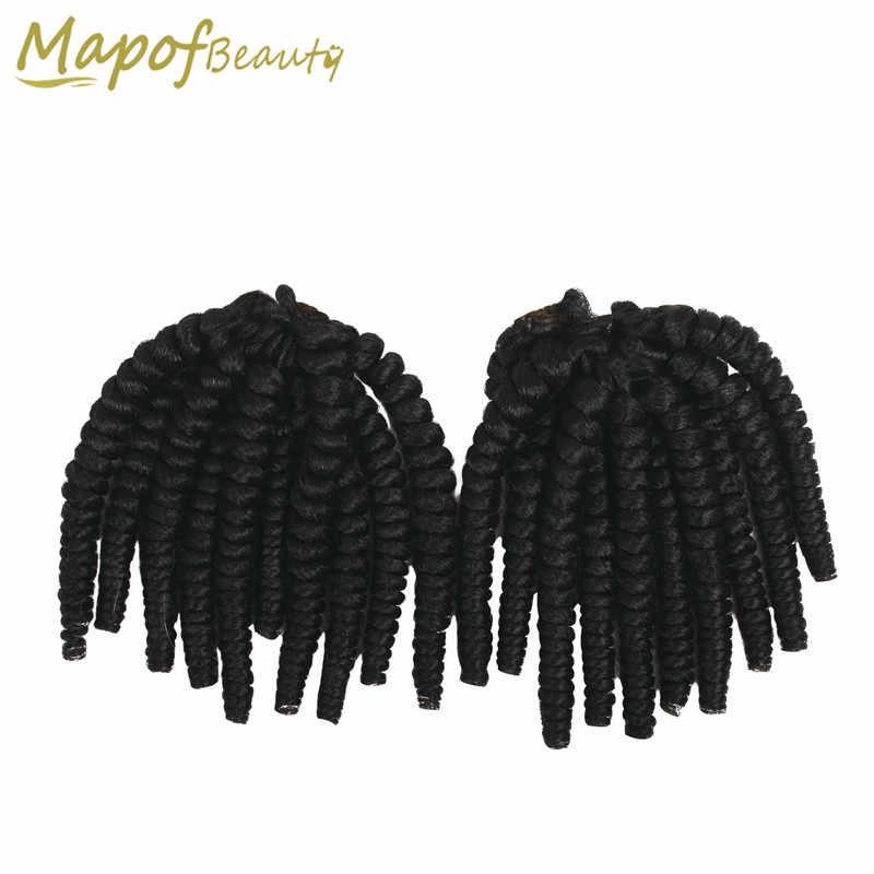 MapofBeauty 2 шт./компл. пряди jumpy Wand кудрявые ямайские скакалки крючком косы черные коричневые волосы удлиняющие синтетические плетеные Омбре
