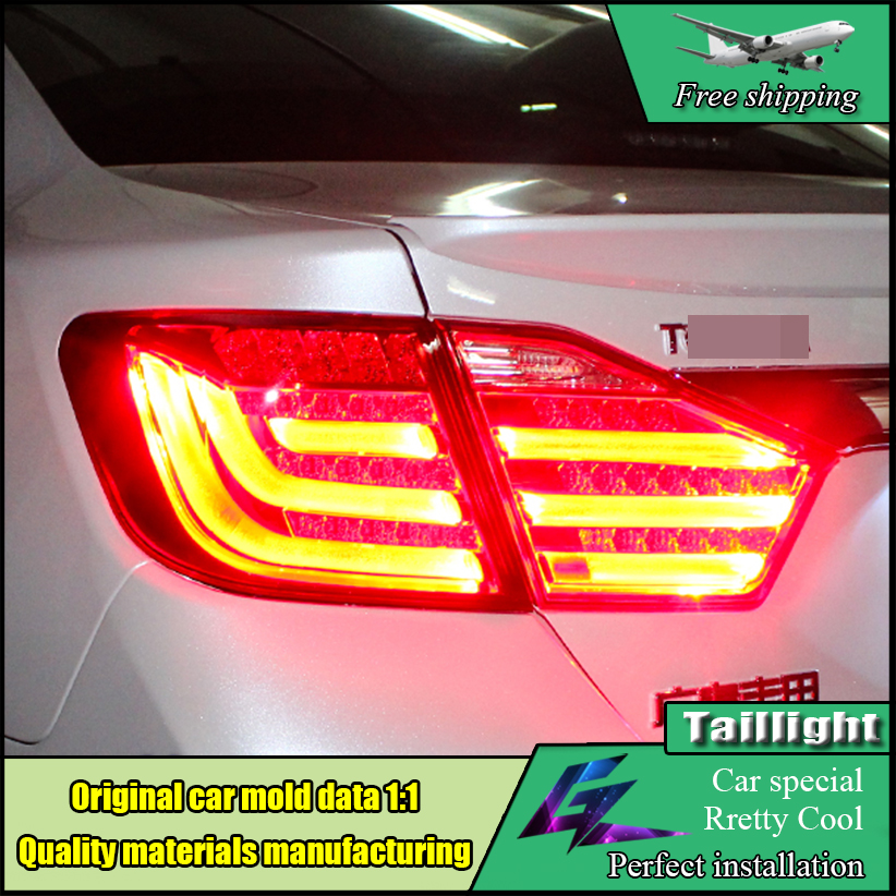 Car Styling Taillight Accessories For Toyota Camry V50 Tail Lights 2012 -2014 LED Tail Light LED Rear Lamp DRL+Brake+Park+Signal