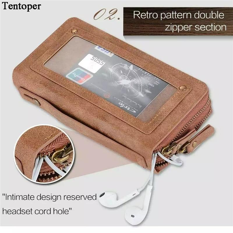 Цена за I6 6S женские Роскошные искусственная кожа молния сумки кошелек с телефона чехол для iPhone 6, 6 S 6 Plus 6S плюс телефон сумки