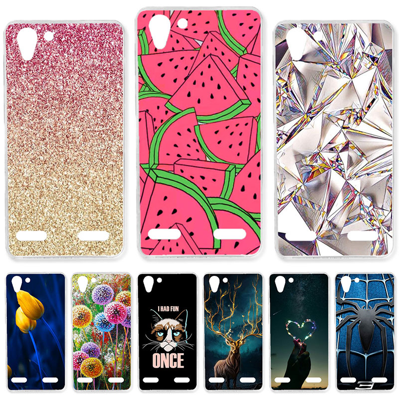 TAOYUNXI Soft TPU <font><b>Case</b></font> For <font><b>Lenovo</b></font> Vibe K5 K5 Plus <font><b>Cases</b></font> For Lemon 3 K32C36 A6020 <font><b>A6020a46</b></font> A6020a40 5.0 inch DIY Painted Covers image