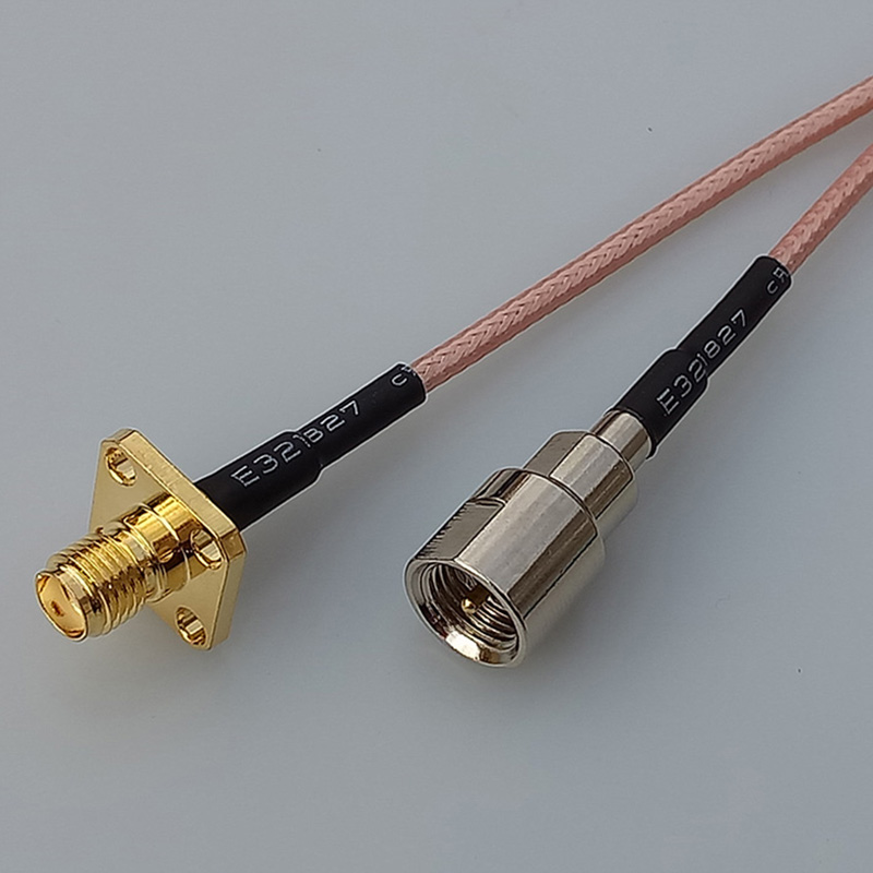 цена на RF cable coaxial linear terminal FME Male plug adapter switch SMA female panel mount jack connector
