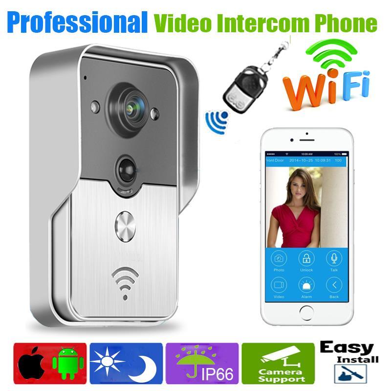 все цены на WiFi Mobile phone Doorbell Camera Wireless Smart Video Intercom System IP Door Phones Door Bell