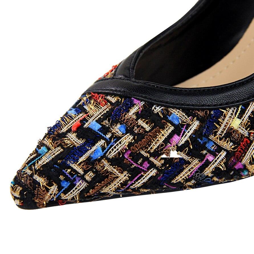 Bout Cher Femme Pointu 5 Hakken Pas Piste Apricot Tacons Stiletto Cm Talons Dame Abricot 9 black Haute Qualité 2018 Chaussures Pompes BUxqqnzd