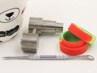 Narghilé di vetro strumento 14mm e 18mm titanium nail strumento tampone slicon vaso contenitore dab per narghilè fumatori acqua tubo
