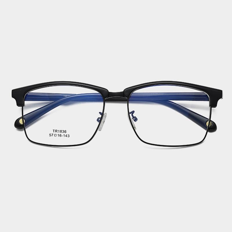 Optische Brillen Retro Platz Myopie blau Hyperopie Anti ray Mode Photochrome business Frauen 6xwtqIf