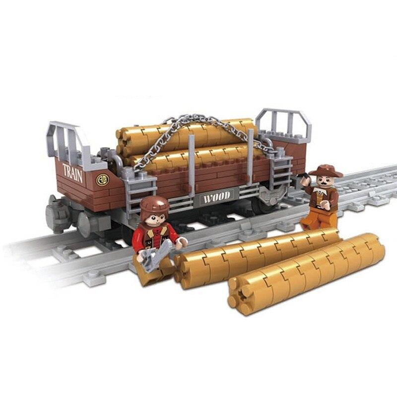 Model building kits Compatible with Legoinglys city trains rails 021 3D blocks Educational model building toys for children