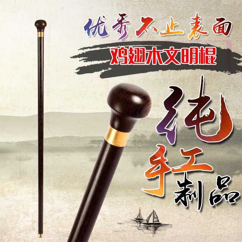 Filial piety elderly Mahogany round wooden wood civilization elderly walking stick civilization cane недорго, оригинальная цена