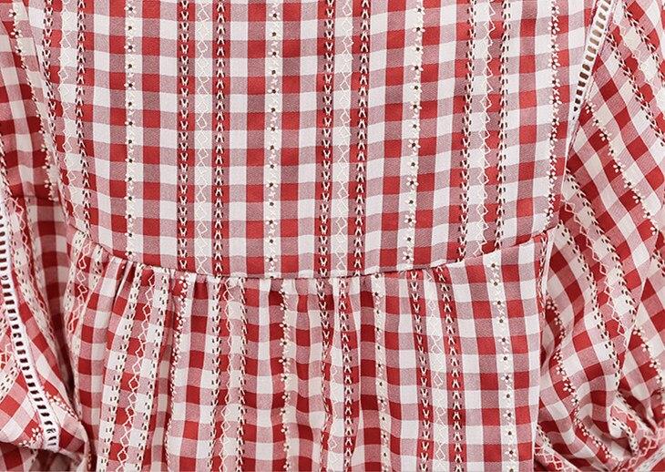 M-4xl Cotton Linen Two Piece Sets Outfits Women Plus Size Plaid Blouses And Pants Suits Korean Elegant Casual 2 Piece Sets 2019 34