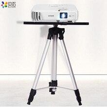 500 1400mm uniwersalny uchwyt projektora stojak trójnóg Laptop Foor stojak wysokość regulowany uchwyt odtwarzacz DVD uchwyt podłogowy z tacą