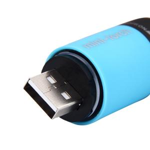 Image 5 - 2019 New Mini Torch 0.3W 25Lum USB Rechargeable LED Torch Lamp Flashlight Keychain