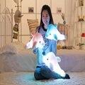 Индукции музыка световой дельфин плюшевые игрушки LED glow кукла ночник подушку свет куклы рождения День святого валентина подарок