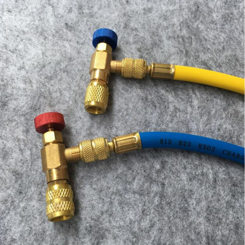 2Pcs Safety Valve R410A R22 Air Conditioning Quick Coupler Connector Adapters 1