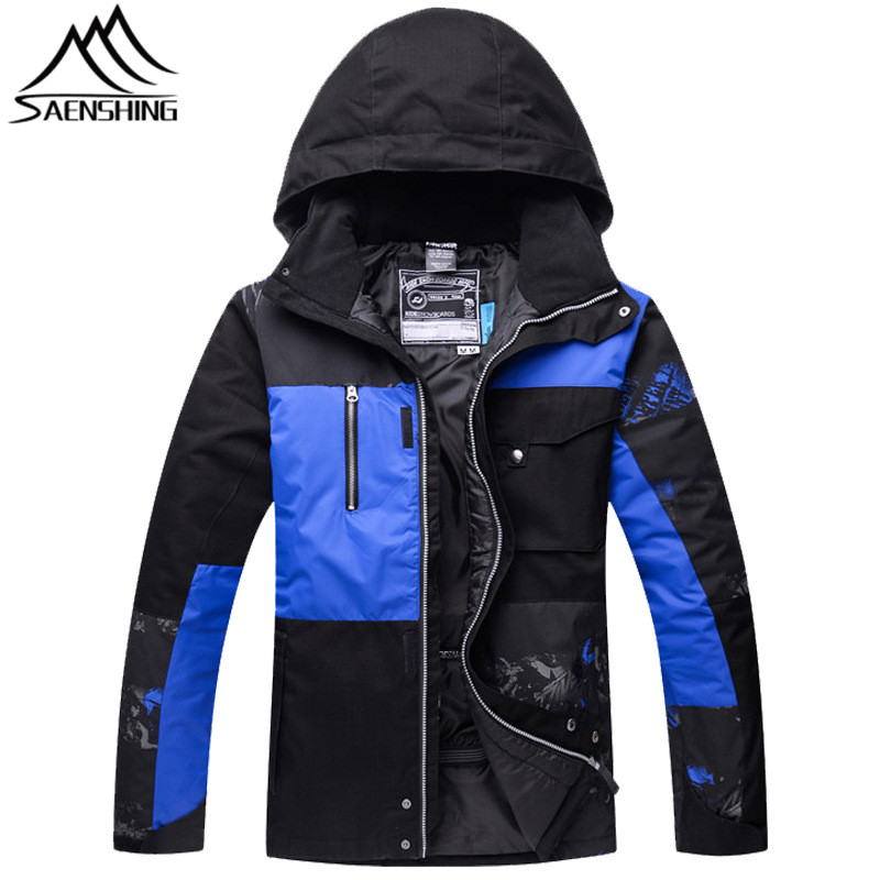 Saenshing New Ski Jacket Men Snowboard Snow Jacket Winter Waterproof Warm Skiing Snowboarding Clothes Male Outdoor Sports Coats 2015 new outdoor climbing clothes two piece men sports suits coats winter waterproof men s skiing jacket snowboard outerwear