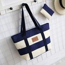 Neue Mode Frauen Handtaschen Leinwand Patchwork Umhängetasche Trage Casual Frauen Einkaufstaschen 2 Sätze ZX-056