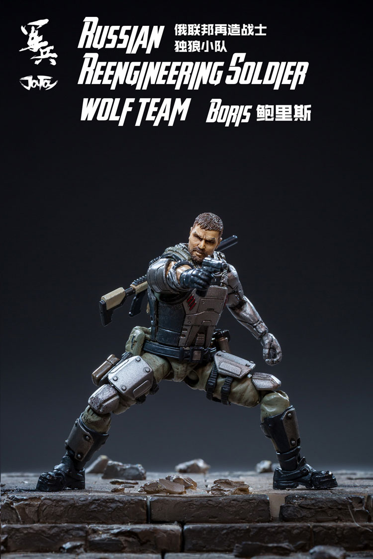 JOY TOY 1/18 Russian figure soldiers(3pcs/lot)  REENGINEERING SOLDIER WOLF TEAM model doll  Free shipping