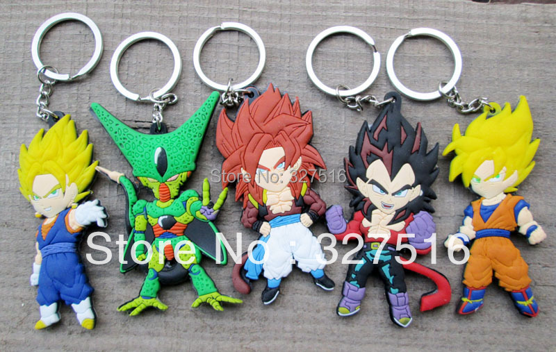 Wholesale 100 Pcs Lot Anime Dragon Ball Z Keychain Set Goku Vs Super Saiyan 5 Styles Free Shipping By DHL In Action Toy Figures From Toys Hobbies On