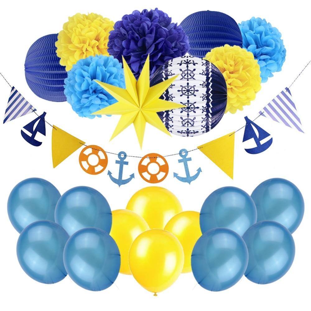 Navy Theme Party Decorations Baby Shower Kids Boy Birthday Back To