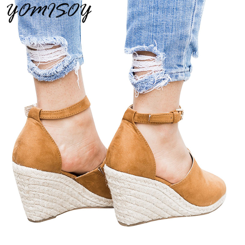 d6b782a230625d 2018 Summer Women Fashion Casual Beach Wear High Spike Heels Shoes Buckle  Peep toe Leisure Women Sandals-in High Heels from Shoes on Aliexpress.com  ...