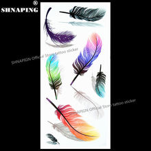 SHNAPIGN 3d Temporary Tattoo Body Art Flash Tattoo Stickers 19x9cm Waterproof Styling Tatoo Home Decor Sticker Angel Feather