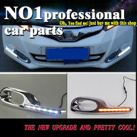 2 Pcs DRL For Honda Fit 2011 2013 DRL Fog Lamp Cover Daytime Running Lights With