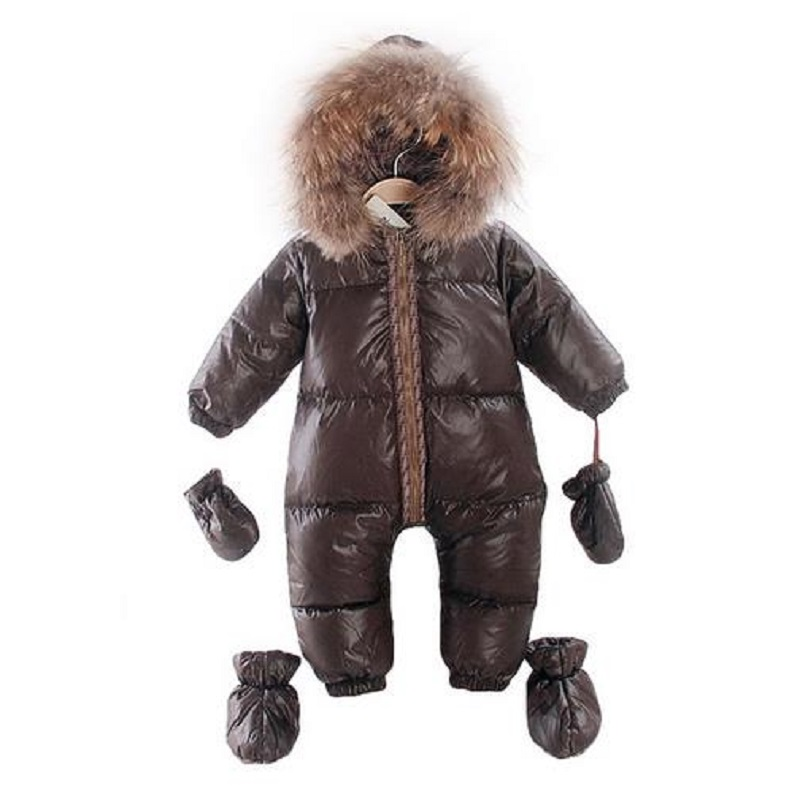 2017 Fashion Winter Newborn Winter Jackets For Baby Girls Down Coats Boys Onesie Down Coat  Duck Down 3 6 12 Months 2 Years Old