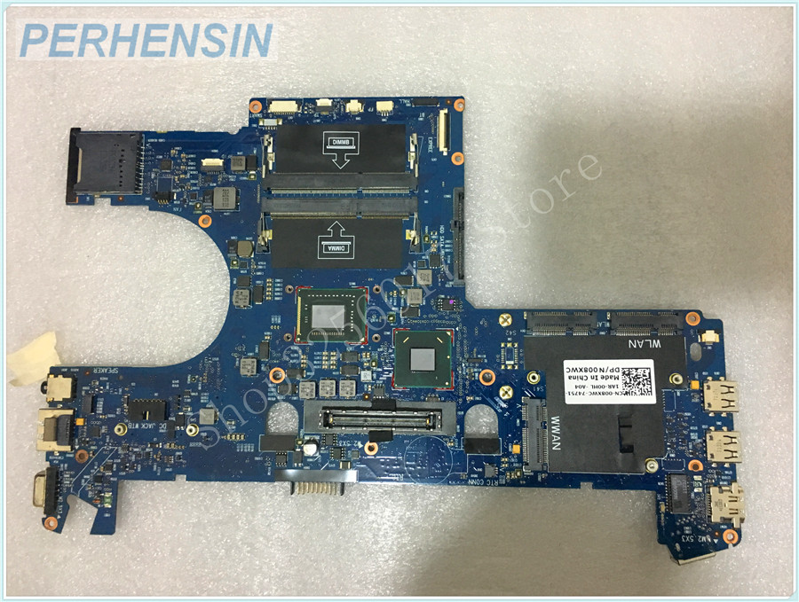 FOR Dell FOR  Latitude E6220 laptop motherboard 08XWC 008XWC CN-008XWC i3-2330M new for dell l latitude e7450 laptop left right speaker set 754cd