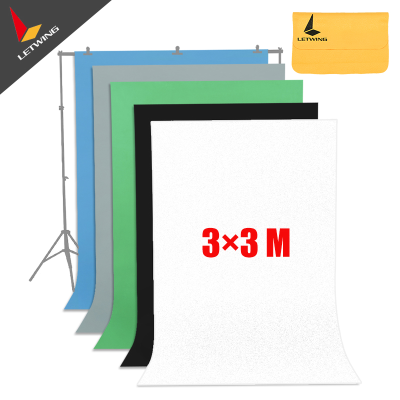 High Quality White Non-woven Fabric 3*3 M 10x10ft Background Backdrop for Studio Photo lighting supon 6 color options screen chroma key 3 x 5m background backdrop cloth for studio photo lighting non woven fabrics backdrop