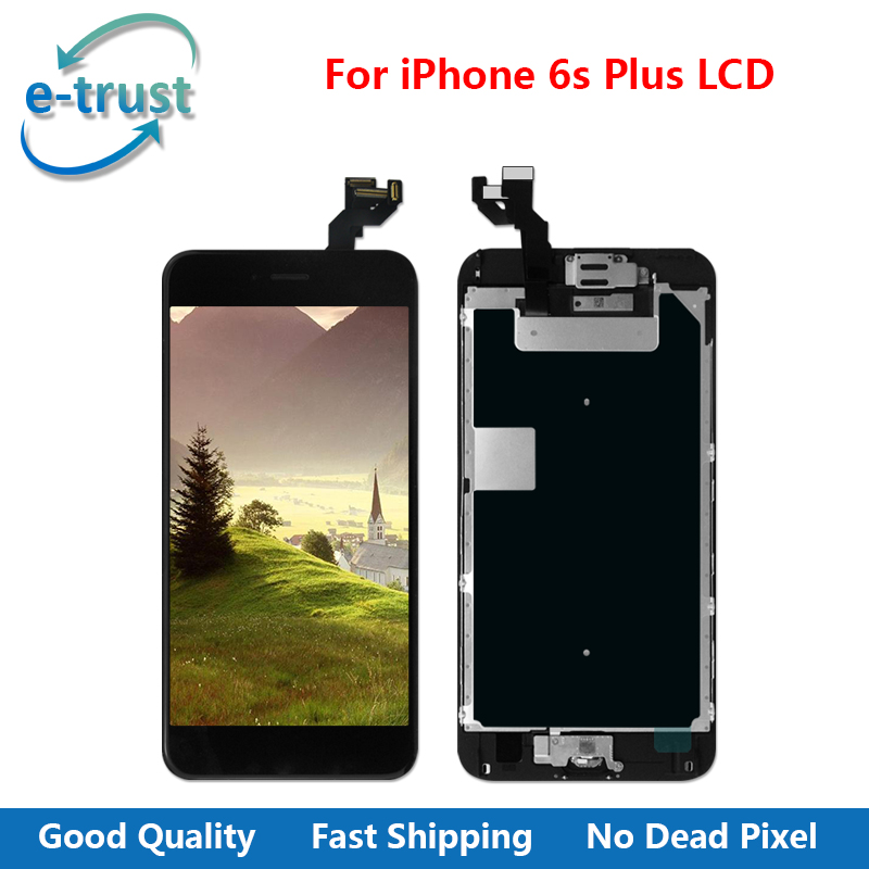 e-trust 5Pcs/Lot AAA+ Quality LCD For iPhone 6S Plus Touch Screen Digitizer Full Assembly+Home Button+Front Camera+Free Shipping 3pcs lot quality aaa lcd display for iphone 6s plus lcd screen lg brand digitizer touch assembly lifetime warranty dhl free ship